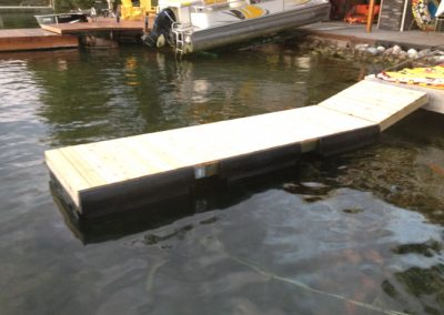 Wood Floating Dock Systems Orillia, Barrie, Simcoe, Muskoka