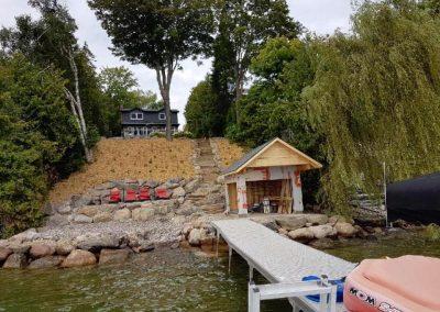 Boathouse & Shoreline Reconstruction