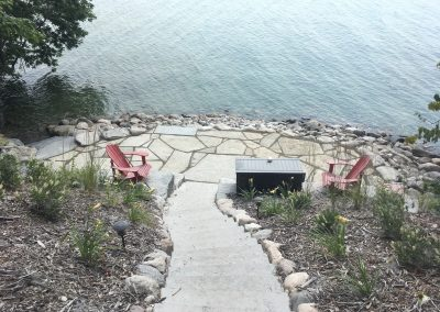 Staircase, Hardscape Redone