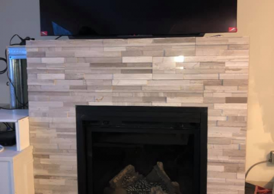 Custom Built Home Fireplace Layout