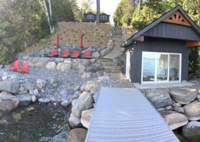 Complete New Shoreline, Hardscape and Boathouse