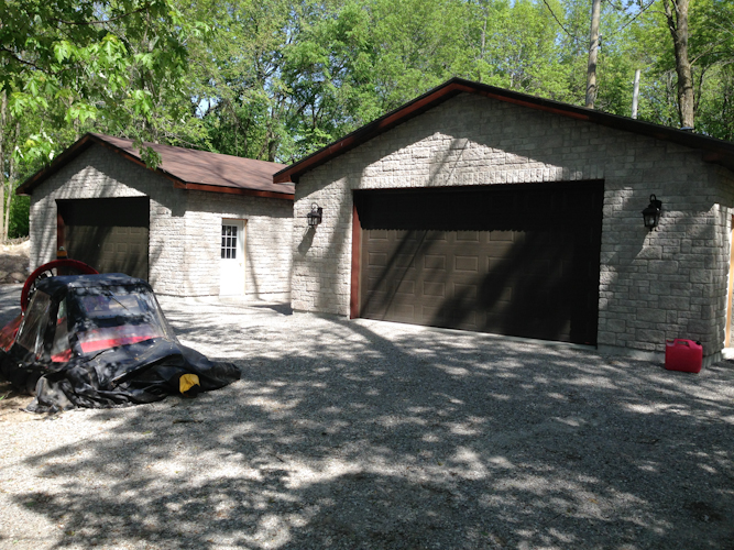 Two Garages on Island