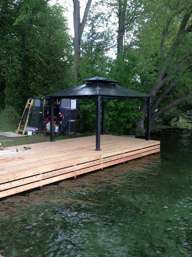 Wood Permanent Dock Systems Orillia, Barrie, Simcoe, Muskoka
